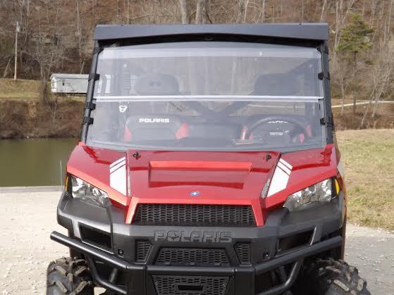 Folding windshield for 2014 polaris ranger 900 xp by dot weld