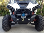 EMP Front Brush Guard w/Winch Mount & LED Lights for Can-Am Maverick