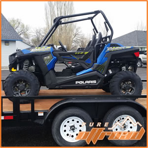 2017 Polaris RZR 900 Trail with stock rims and tires