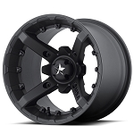 MSA M23 Battle Flat Black ATV Wheels - 14x10, 5+5 Offset