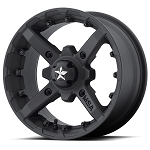 MSA M23 Battle Flat Black ATV Wheels - 14x7, 4+3 Offset
