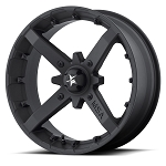 MSA M23 Battle 18 inch ATV Wheels, Flat Black