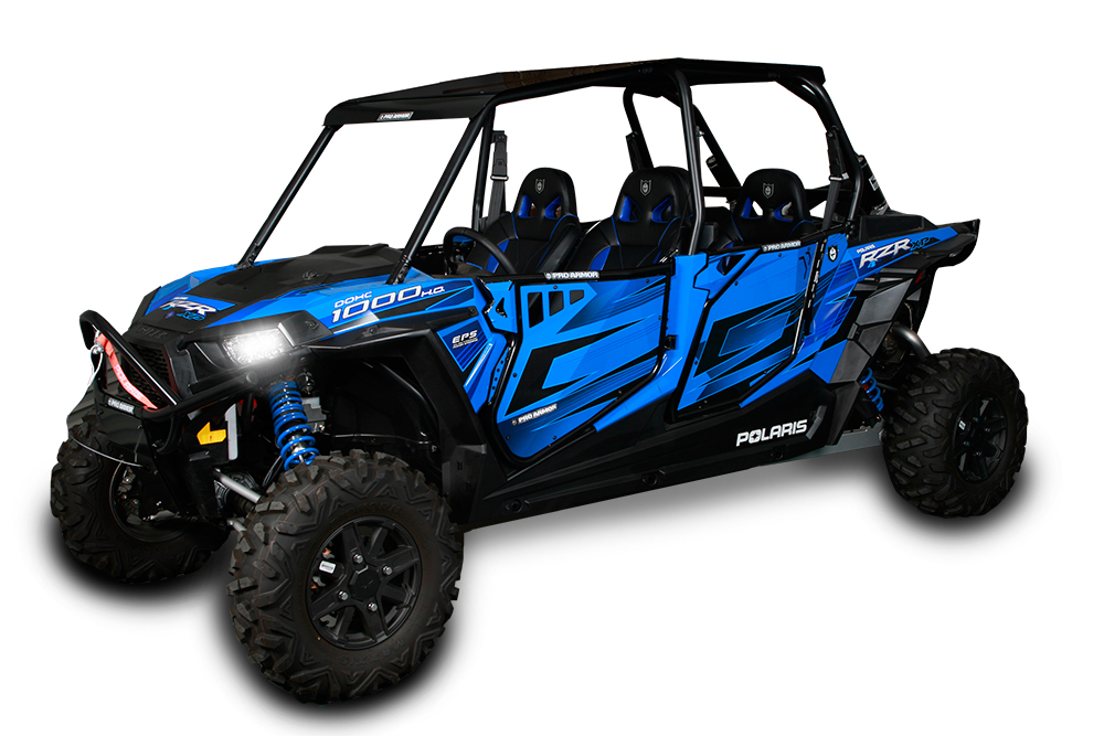 pro armor aluminum black roof for rzr xp 4 1000 rzr 4 900. Black Bedroom Furniture Sets. Home Design Ideas