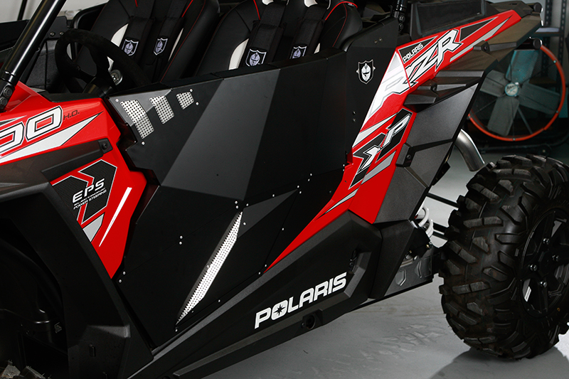 Solar black stealth doors for polaris rzr 1000 by pro armor for 1000 door