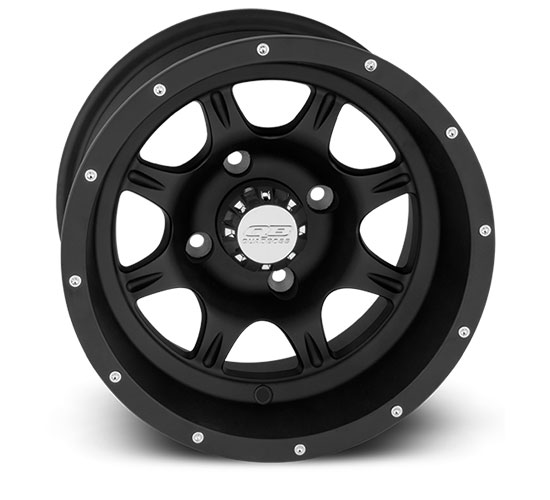 Atv Rims Wheel Covers : Quadboss coercion inch matte black atv wheels