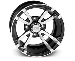 Quadboss Showdown ATV Wheels, 12 Inch Machined