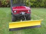 Snow Plow with Vehicle Mount for 4010 Kawasaki Mule by Extreme Metal Products.