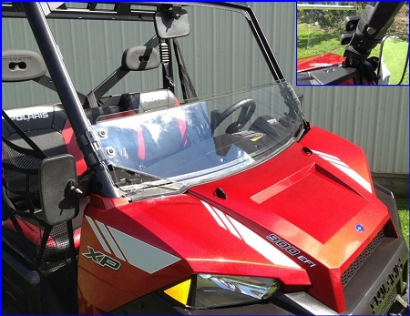 EMP Half Windshield For Polaris Ranger 900 XP With Fast Straps