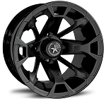 "Fairway Alloys FA131 Elixir Golf Cart Wheels - 12"" Black"