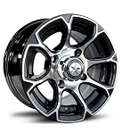 "Fairway Alloys FA133 EVO Golf Cart Wheels - 10"" Black"