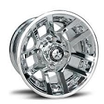 "Fairway Alloys FA121 Illusion Golf Cart Wheels - 10"" Chrome"
