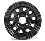 "ITP Delta Steel Golf Cart Wheels - 12"" Black"