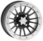 ITP SD Beadlock Wheels - 12 Inch Black w/ Polished Ring