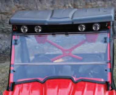 atv accessories - j-strong folding windshield for kawasaki teryx