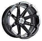 "MSA M12 Diesel ATV Wheels - 14"" Black"