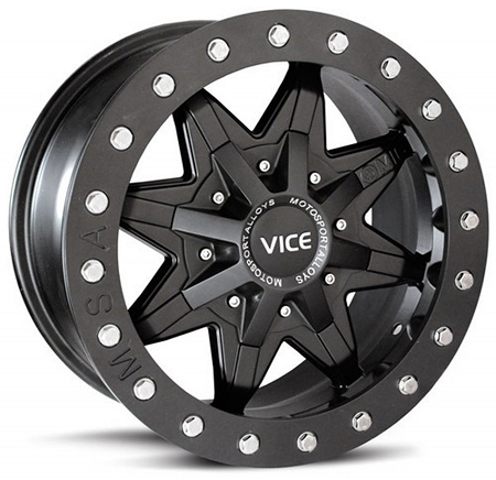 Motosport alloys m16 vice atv wheels 14 quot machined