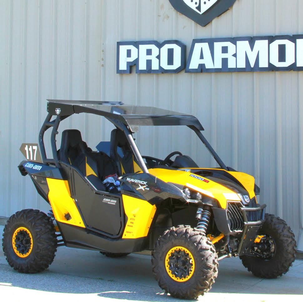 Can am commander 2010 2013 maverick 2013 black aluminum roof by pro armor