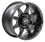 STI HD6 ATV Wheels, 17 Inch Milled Matte Black