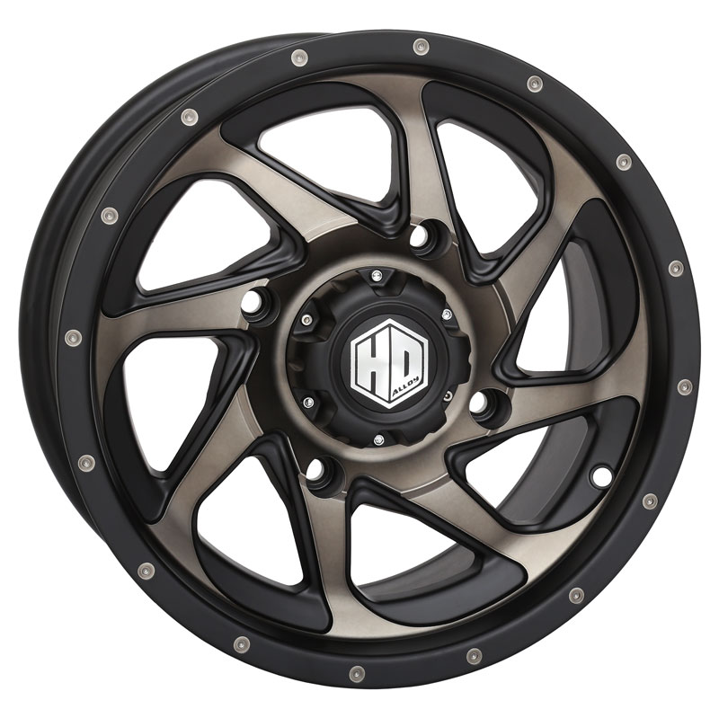 Sti hd8 14 inch atv wheels matte black and dark grey sti hd8 atv utv wheels 14 inch matte black dark grey sciox Gallery