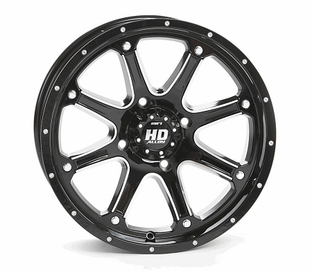 Sti hd4 atv wheels 14 glossy black machined Video hd4