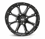 "STI HD4 ATV Wheels - 15"" Glossy Black Machined"