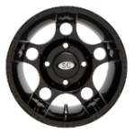 "Super Grip 5 Star ATV Wheels - 12"" Black"