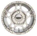 "Super Grip 5 Star ATV Wheels - 12"" Polished"