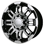 "Vision 375 Warrior ATV Wheels - 14"" Machined"