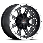Vision 548 Commander 12 Inch Wheels, Matte Black with Machined Face