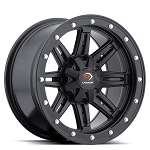 Vision 550 Five Fifty 14 Inch Wheels, Matte Black