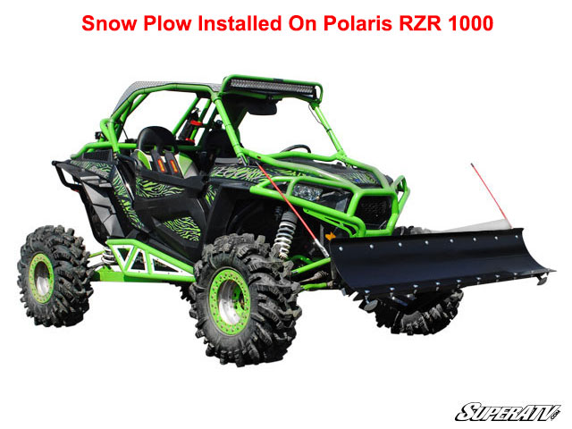 Super ATV Plow Pro Snow Plow For Polaris RZR XP 1000 Amp RZR 900