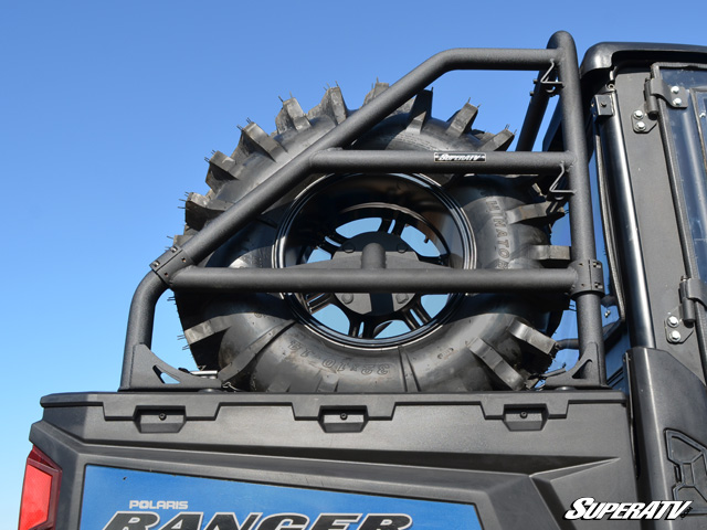 Super Atv Spare Tire Carrier For Polaris Ranger 570 900