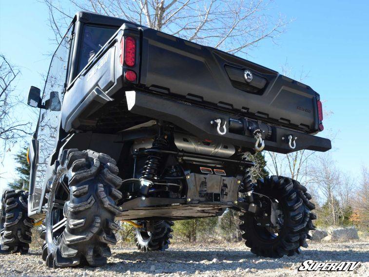 Super Atv Diamond Plate Rear Bumper For Can Am Defender