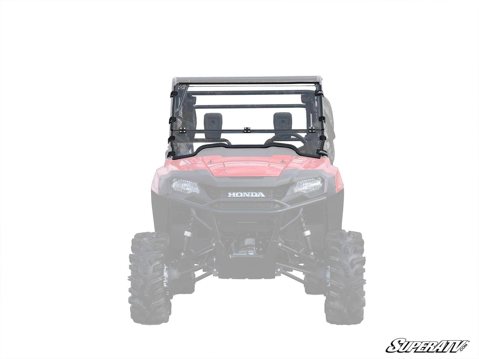 Super ATV Flip Down Scratch Resistant Windshield for Honda Pioneer 700