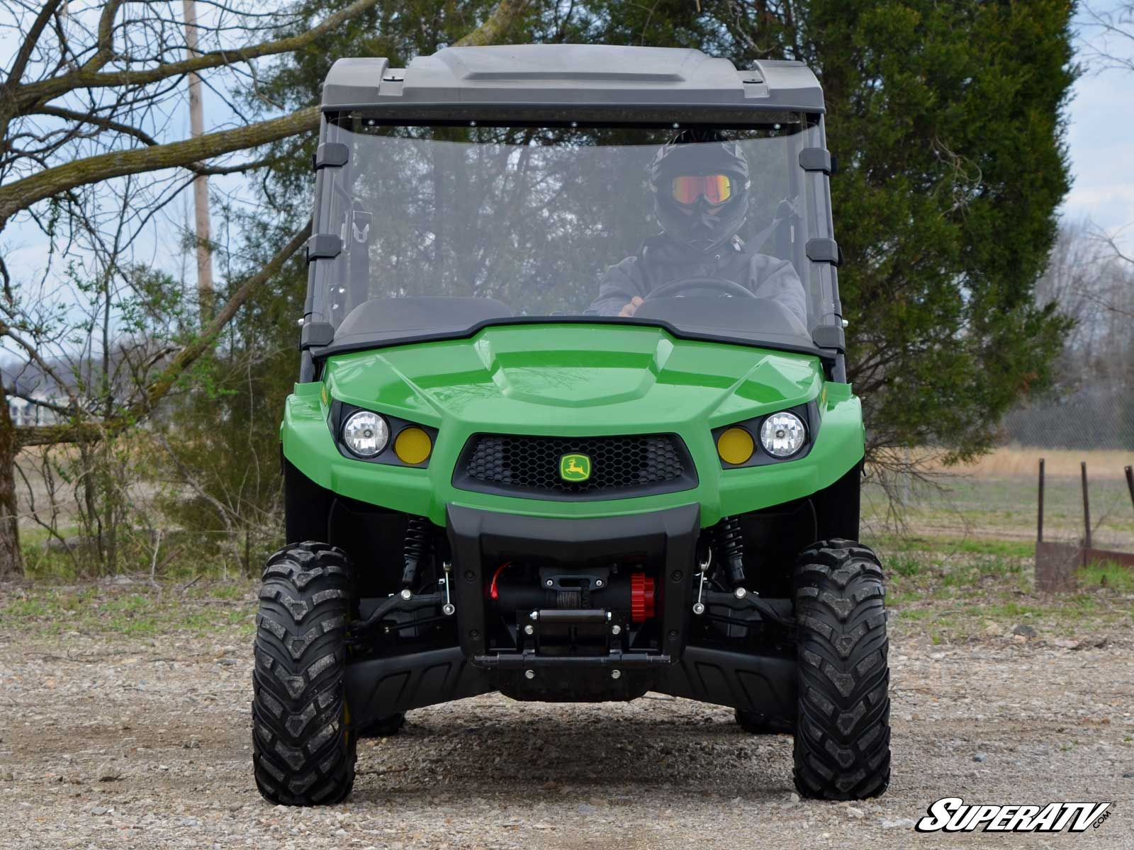 Full Scratch Resistant Windshield for John Deere Gator by Super ATV