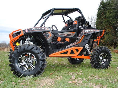 nerf bars for the polaris rzr xp 1000 by super atv. Black Bedroom Furniture Sets. Home Design Ideas