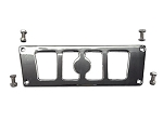 Super ATV Chrome Rear Frame Support for Polaris RZR