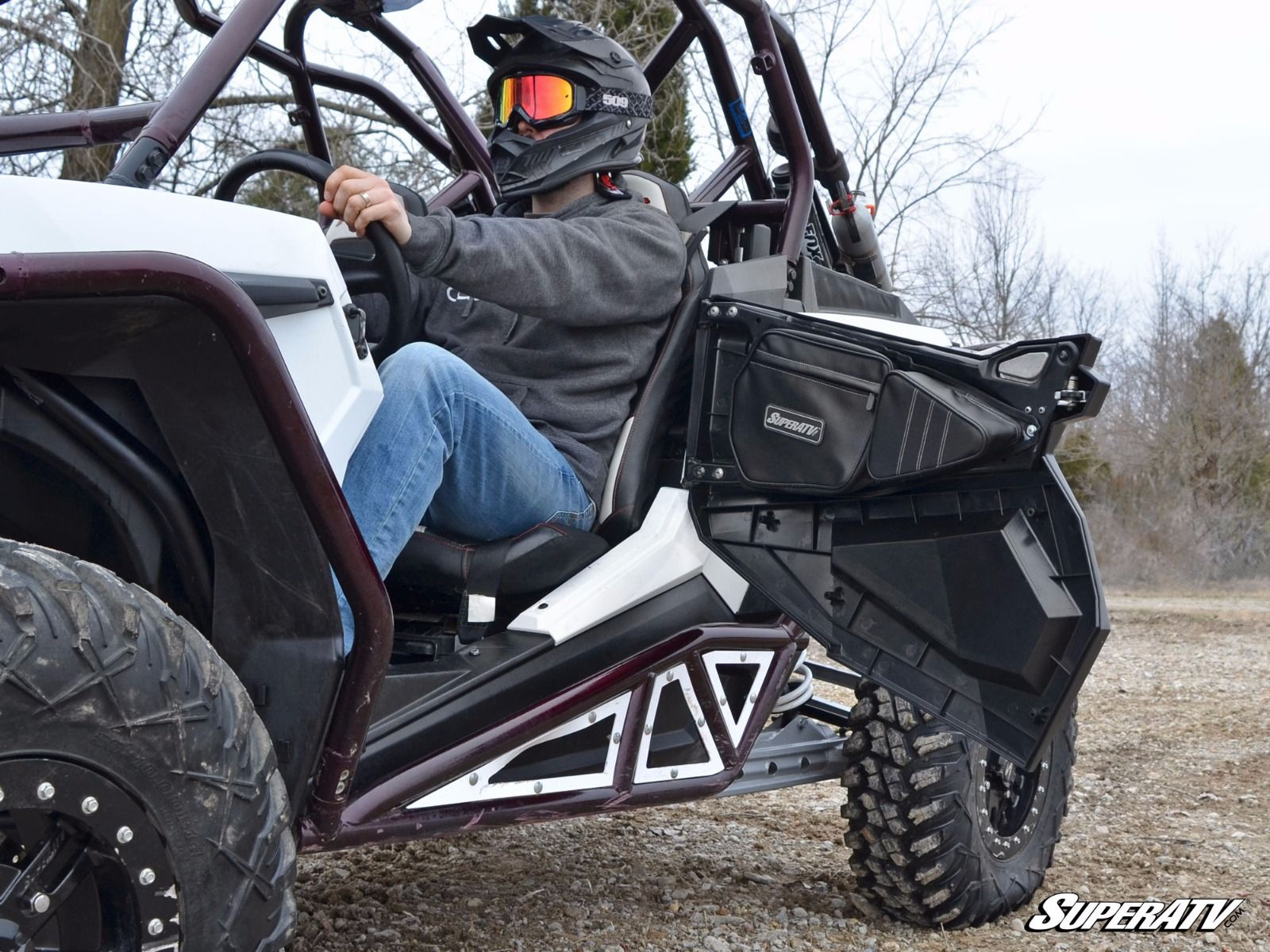 super atv door bags for polaris rzr 1000 900 models. Black Bedroom Furniture Sets. Home Design Ideas