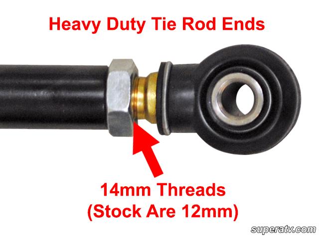 Heavy Duty Tie Rods By Super Atv For Polaris Rzr
