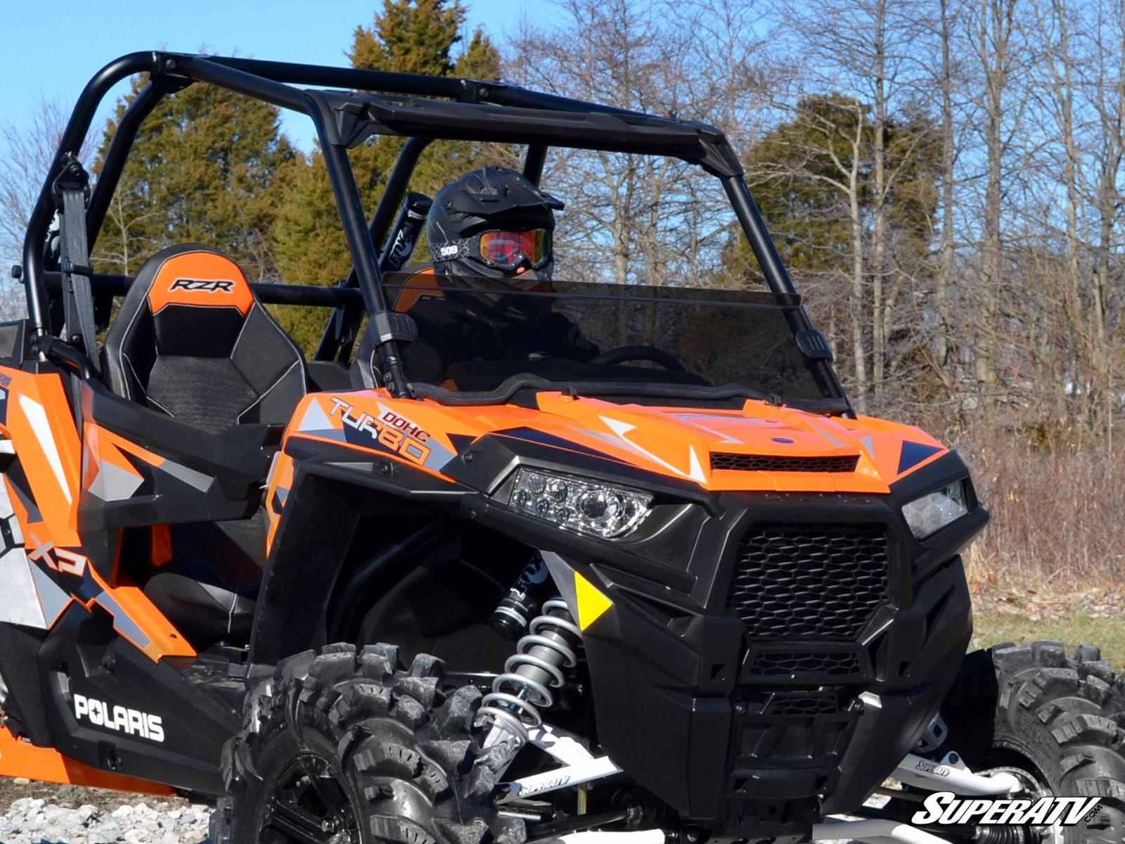 half windshield for the polaris rzr xp 1000 by super atv. Black Bedroom Furniture Sets. Home Design Ideas
