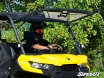 Super ATV Scratch Resistant Flip Windshield for Can-Am Defender