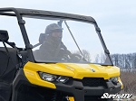 Super ATV Scratch Resistant Full Windshield for Can-Am Defender