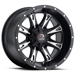 Vision 549 Sniper Wheels, 14 inch Matte Black w/ Milled Face