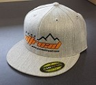 Pure Offroad FlexFit Gray Hat with Flat Bill