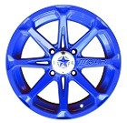 "MSA M12 Diesel ATV Wheels - 14"" Blue Fire"