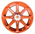"MSA M12 Diesel ATV Wheels - 14"" Orange Crush"