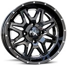 "MSA M26 Vibe Wheels, 14"" Gloss Black Milled"