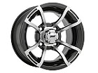 "Douglas Quatro ATV Wheels - 12"" Machined"