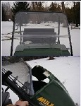 Extreme Metal Products Full Windshield for Kawasaki Mule (3000 and 3010)