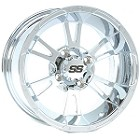 "ITP SS112 ATV Wheels - 12"" Chrome"